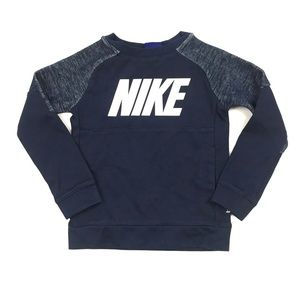 Nike Crew Neck Long Sleeve Pullover Sweatshirt